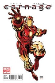 Carnage #1 Arthur Adams Iron Man Retailer Incentive Variant (2010) Marvel comic book